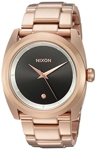 Nixon Women's 'Queenpin' Quartz Stainless Steel Automatic Watch, Color:Rose Gold-Toned (Model: A9352361-00)