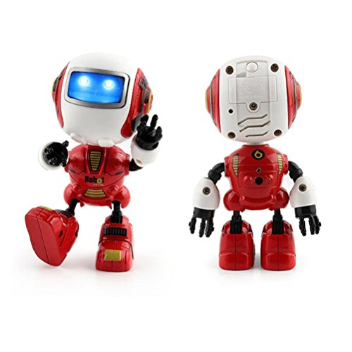 Leegor Touch Induction Multi-function Music Smart Mini Alloy Robot Toys Xmas Gifts Birthday Present (Red) (Ideas Present Christmas Prank)