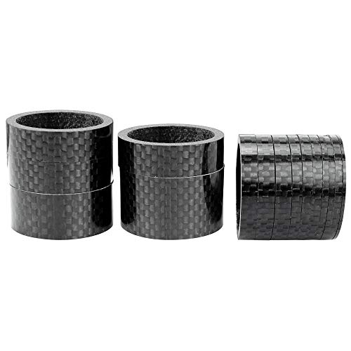 Dreamtop 15 Pcs Bike Carbon Fiber Headset Spacer Bicycle Stem Spacer Kit 1-1/8