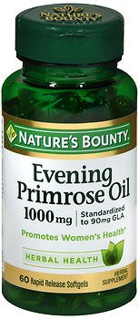 Nature's Bounty Evening Primrose Oil 1000 mg - 60 Softgels, Pack of 6 by Nature's Bounty