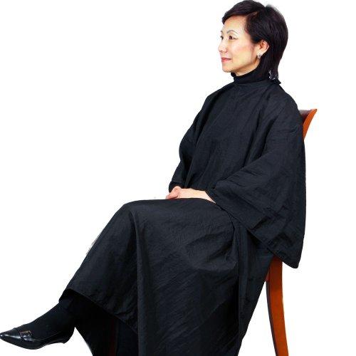 Jmt beauty black salon cutting cape 54 x 60 w 6 snaps for Spa uniform amazon