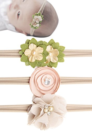 Baby Newborn Girl Elastic Nylon Headband Floral Hair Band Accessories Photo Prop