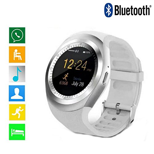 Fitness Tracker Bluetooth Smartwatch with Heart Rate Monitoring Pedometer Activity Tracker Alarm Clock Stopwatch Messages Reminder Sports Smartwatch for Men Women Support Android IOS Y1