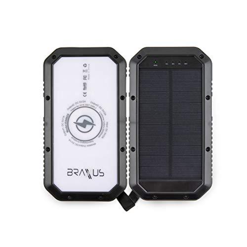 Amazon.com: Braxus Batería Solar Cargador Solar Portátil ...