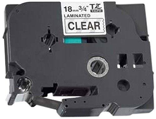 (Prestige Cartridge TZ141 18 mm x 8 m Label Tape for Brother P-Touch Printing Machine - Black on Clear)