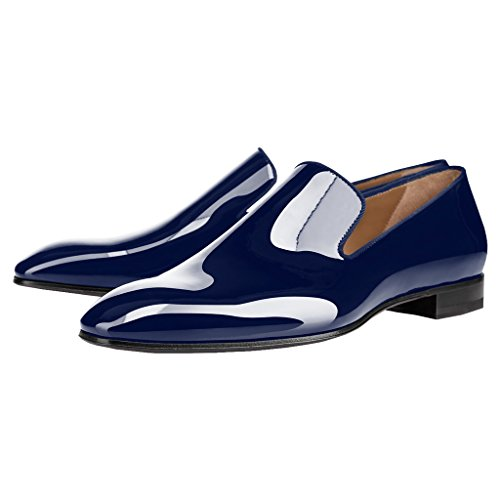 Business Almond Toe FSJ Navy Penny Shoes Loafers Flats Mens for R6qqw8P