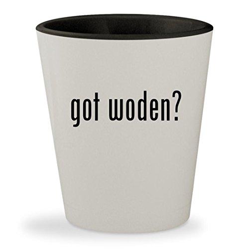 got woden? - White Outer & Black Inner Ceramic 1.5oz Shot Glass