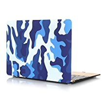 Masino® Hard Case Cover for Macbook Pro 15-Inch A1398 with Retina Display (Camouflage Partten-Blue, Macbook Pro 15-Inch A1286)