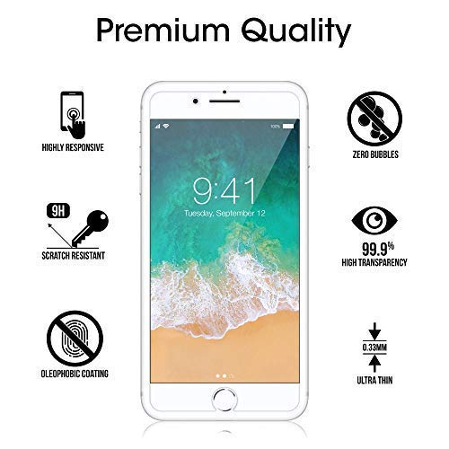 amFilm Glass Screen Protector for iPhone 8 7 6S 6 472 Pack Tempered Glass Screen Protector