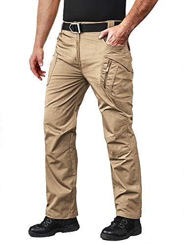 MAGCOMSEN Tactical Pants Men Work Pants for Men Cargo Pants Men Tactical Pants BDU Pants Mens Camping Pants Quick Dry Pants Hiking Pants Mens Khaki