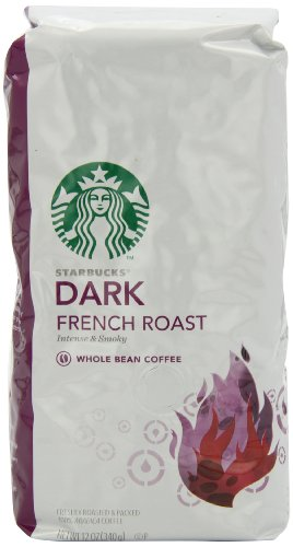 Starbucks Dark French Roast Coffee, Whole Bean, 12-Ounce Bags (Pack of 3)
