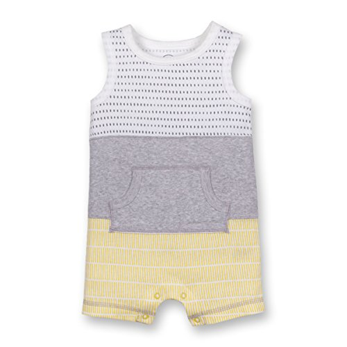 Lamaze Baby Boys Organic Sleeveless Romper, Yellow, (Organic Cotton Baby Clothing)