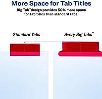 1 Set 11123 Avery 8-Tab Binder Dividers Insertable Multicolor Big Tabs