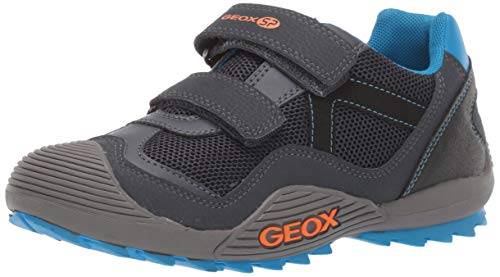 Geox Atreus Boy 1 SP Durable Sneaker, NavyOrange, 24 Medium US Toddler