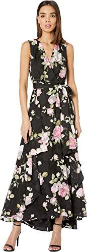 (Tahari ASL Women's Sleeveless TIE Waist Gown, RSE Gard Petal Pink, 12)