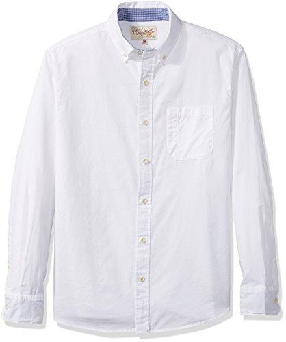 - Margaritaville Men's Long Sleeve Paradise Oxford Shirt, Cream, 2X-Large