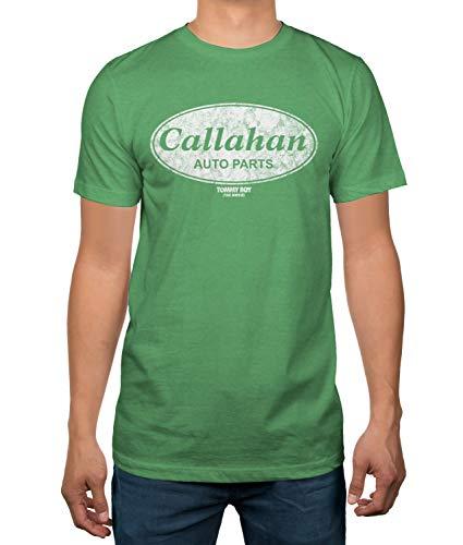 Hybrid Tommy Boy Callahan Auto Parts Mens T-Shirt (Large) Green