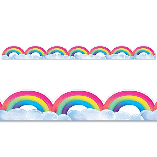 Creative Teaching Press Rainbows & Clouds Border, CTP 8674