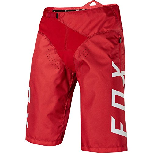 Front Zippered Gusset Pocket - Fox Racing Demo DH Short - Men's Bright Red, 36