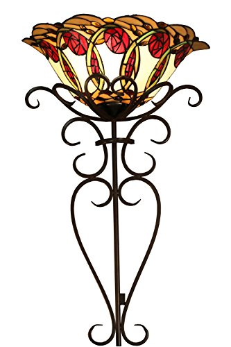 - Whse of Tiffany WSCW23227/WF844 Nadal Stained Glass Tiffany-Style Wallchiere Lamp, 28
