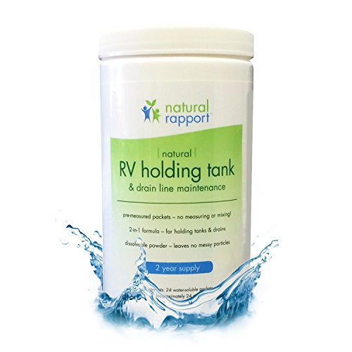 RV Holding Tank Treatment - Naturally Controls Odors and Eliminates Wastes - Use for Home, Camping, Hunting, Portable and RV Toilets - 24 Packets (Doses) per Jar (Hundred Gallon Propane Tank compare prices)