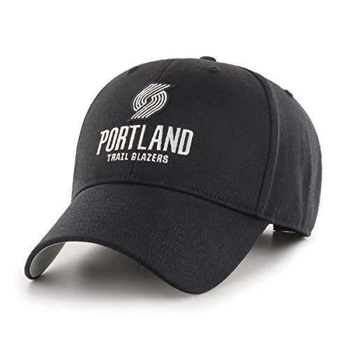 OTS NBA Portland Trail Blazers All-Star Adjustable Hat, One Size, Black & White