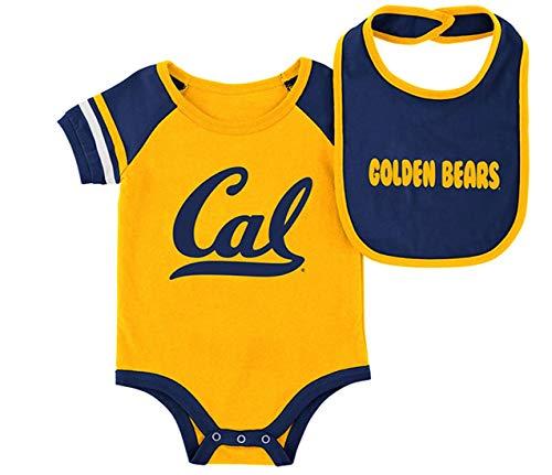 Cal Berkeley Golden Bears Infant Bodysuit and Bib Set Baby Jersey (6-12 M)