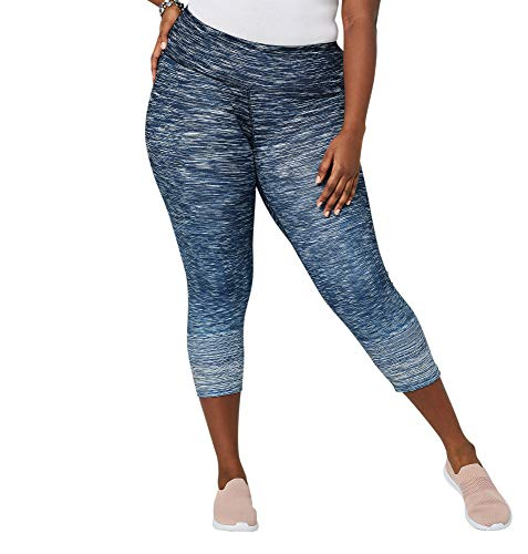 - Avenue Women's Ombre Spacedye Capri Active Legging, 22/24 Navy