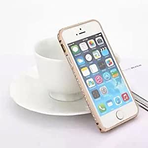 QHY Diamond Aluminum Alloy Bumper Frame Cover for iPhone 5/5S (Assorted Colors) , Silver