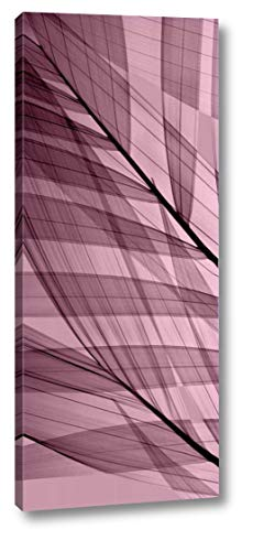 """Palms A, Rose Quartz by Steven N. Meyers - 10"""" x 23"""" Gallery Wrapped Giclee Canvas Print - Ready to Hang"""