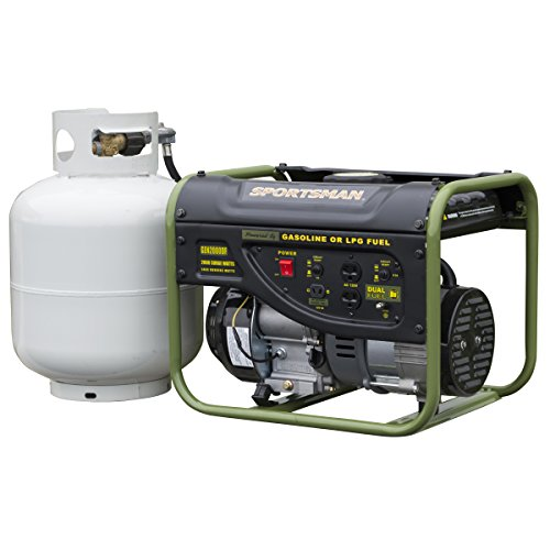 Sportsman GEN2000DF, 1400 Running Watts/2000 Starting Watts, Dual Fuel Powered Portable Generator