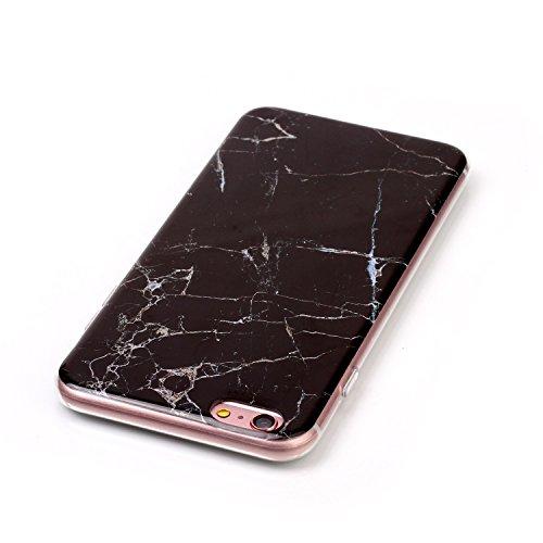 Voguecase® für Apple iPhone 6 Plus/6S Plus 5.5 hülle, Schutzhülle / Case / Cover / Hülle / TPU Gel Skin (Marmor/Schwarz) + Gratis Universal Eingabestift