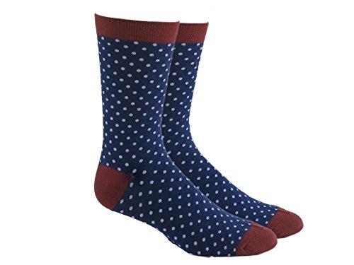 Polka Dots White Cotton Socks - MEN DRESS SOCKS COMBED COTTON, NAVY BLUE WHITE POLKA DOTS Pattern Size 7-13