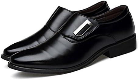 マットPUレザーアッパースリップオン並ぶオックスフォードブロックヒールメンズビジネスシューズ 快適な男性のために設計