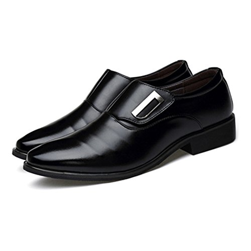 traspirante Nero uomo Sunny Slip Nero on Dimensione amp;Baby Low da Color Smooth Scarpe Leather Resistente all'abrasione 44 UE Oxfords lavoro PU da Top wXUzrPqX