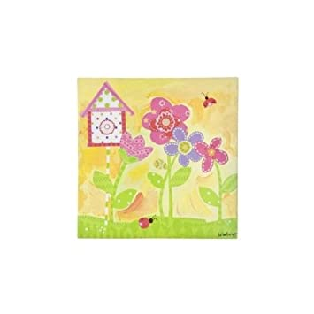 Amazon.com : Oopsy Daisy too Sunshine Yellow Flower Wall Art ...
