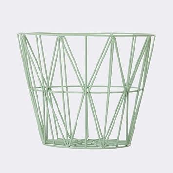 Ferm Living   Ferm Living Wire Basket   Mint   Large   Large   H45 X