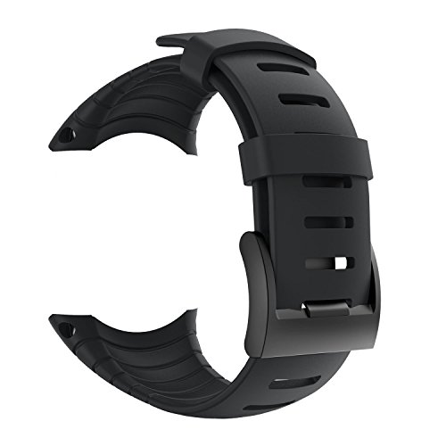 Suunto Core Strap, Rubber Replacement Watch Band for Suunto Core SS014993000,Black by patrohoo
