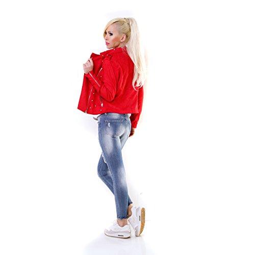Chaqueta Rojo Chaqueta Oricestyle para para Oricestyle Mujer Mujer Oricestyle Rojo Chaqueta wO0vRHvxq