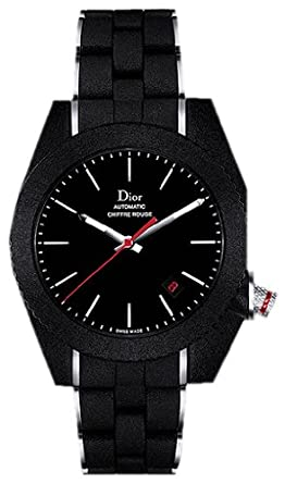 size 40 b4527 6d6f8 Amazon | Christian Dior CHIFFREルージュブラック自動メンズ ...
