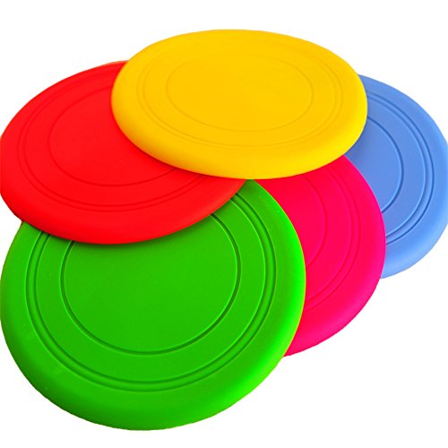 Wildgirl Soft Flyer Disc Toy for Puppy Pet Dogs Plain Floppy Flying Saucer Toys Candy Color