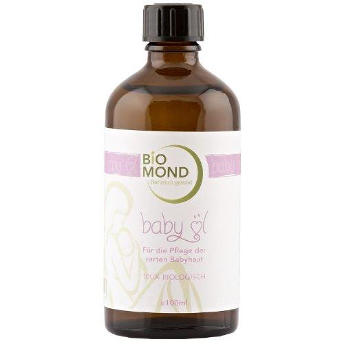 BIO Babyöl von BIOMOND / 100ml / ohne Zusatzstoffe / 100% BIO / entspannt und pflegt die zarte Babyhaut / von Hebammen empfohlen / vegan
