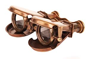 Steampunk Belt Oculator Portable Folding Binoculars w/ Leather Pouch