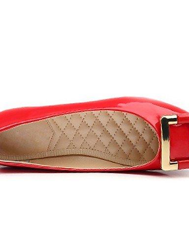 sint PDX de mujeres Cuero zapatos charol PqX6qywg