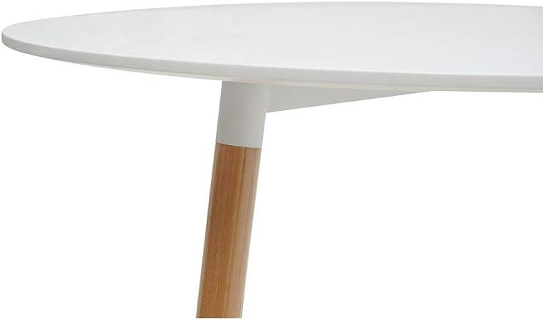 Kosmi Tavolo Rotondo Tavolo Rotondo Bianco Scandinavo 6 Persone Diametro 120 Cm Tavoli Da Sala Da Pranzo Casa E Cucina