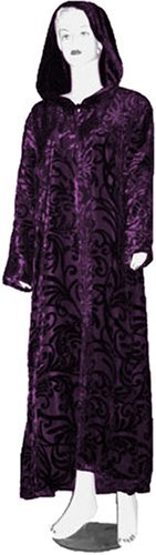 Purple Velvet Cloak with Burnout Swirls
