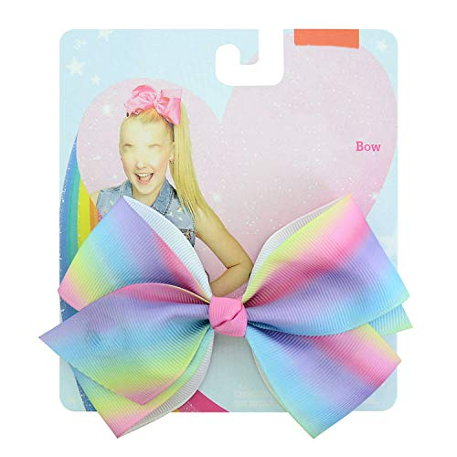 (Balalei 1 Pcs clip Multicolor Mermaid Unicorn Rainbow Plaid Print ribbon bow Flower Bow with Hair clip Girls present 892-J,9-6)