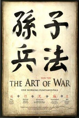 Sun Tzu Poster The Art Of War Five Working Fundamentals Sunzi Sun Wu