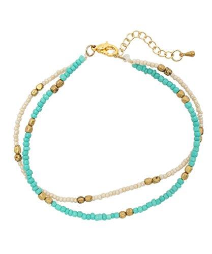 [해외](티티카카) 2 연 ビ?ズアンクレット ZDSNBD8732 FREE B / (Titicaca) 2-row bead anklet ZDSNBD8732 FREE B