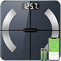Bluetooth Body Fat Scales Smart Bathroom Scale Digital Body Weight Scales BMI Muscle Weighing Composition Analyzer with...